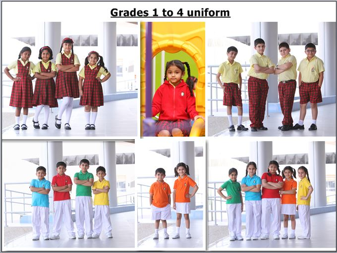 Grades 1 to 4 uniform