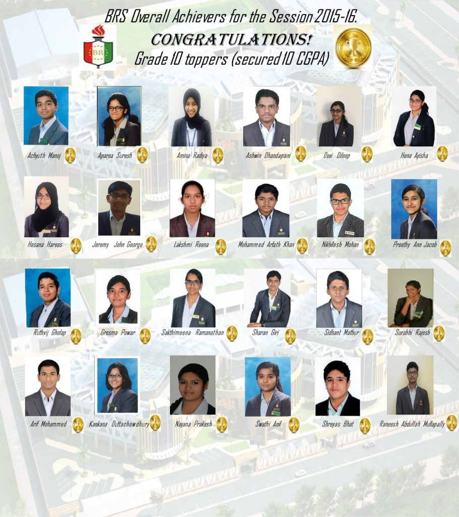 Grade 10 toppers 2015-16